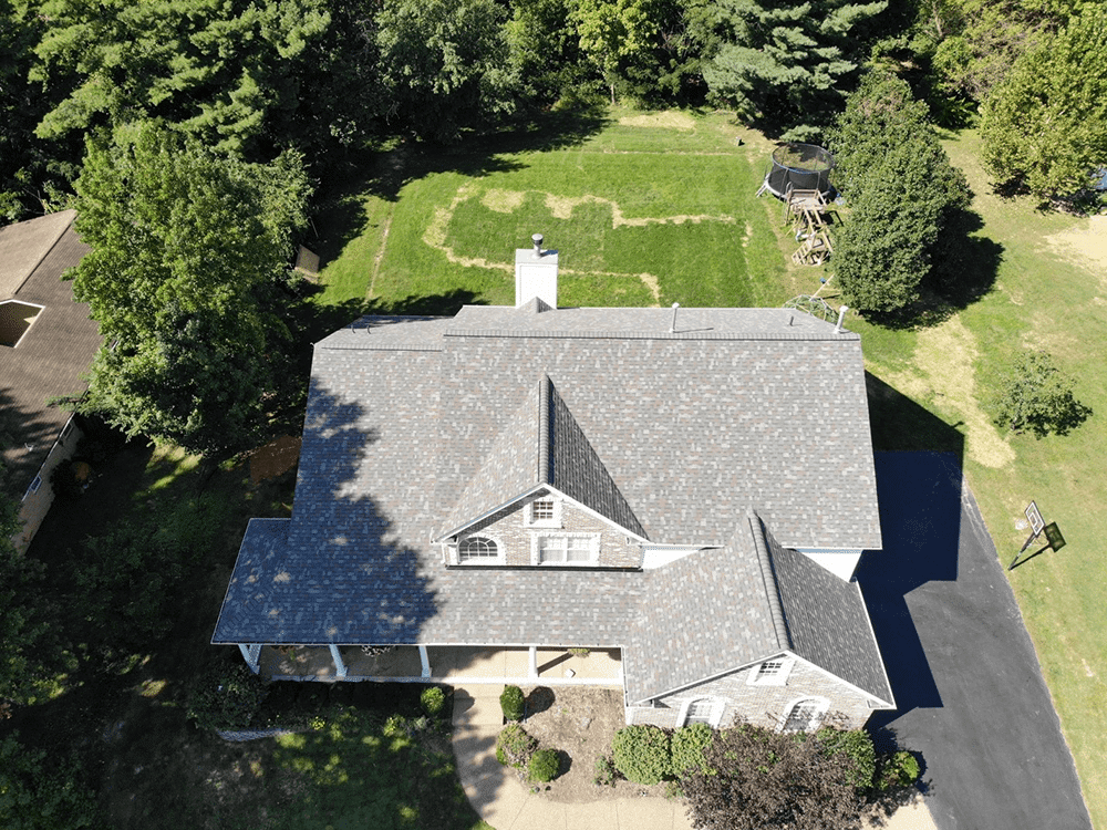 A residential roof ready for the summer.